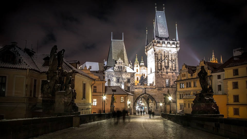 Attractive monuments in Prague